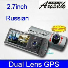 popular 2 ch/channal digital video camera support GPS