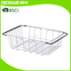 Stainless Steel Kitchenware Over The Sink Drying Rack Drain Holder For Storage