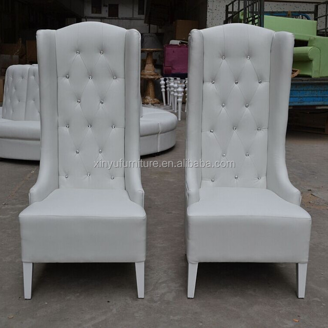 2018 fashion elegant white wedding party high wing back chair XYN942