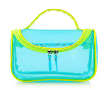 Alibaba China Transparent Waterproof Travelling Free Sample Makeup Bag Clear PVC Cosmetic Bag