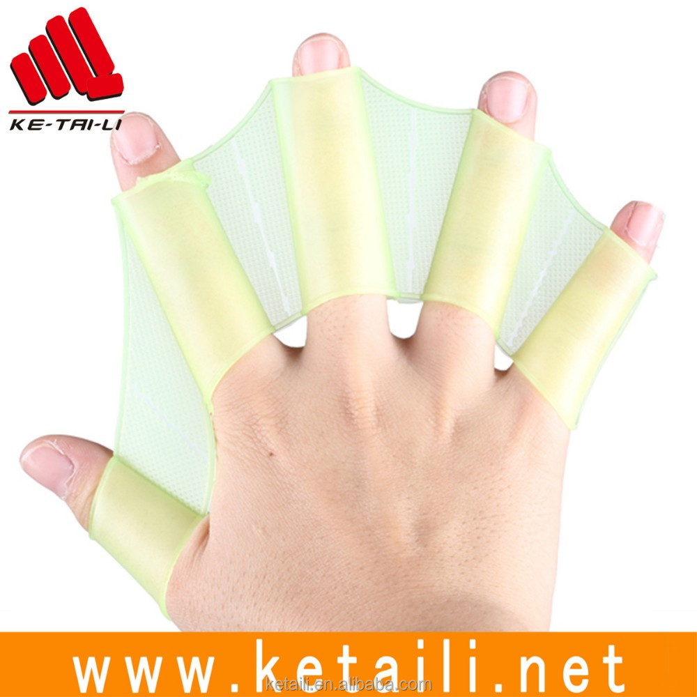 Hot Sale Silicone Webbed Swimming Gloves