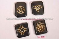 Black Agate Celtic Wiccan 4piece Set Occult Pagan Wiccan ritual supplies