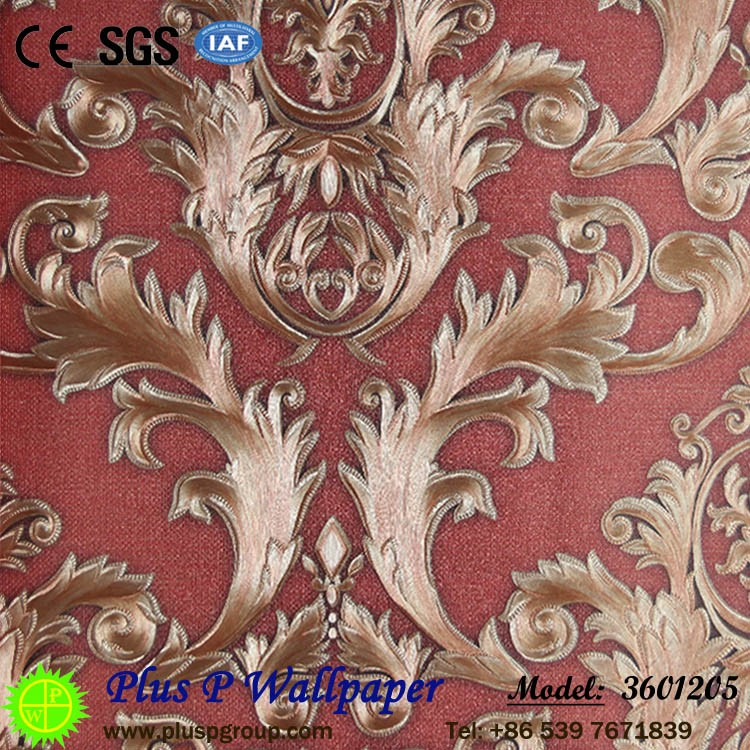 Plus P Modern Luxury Flower Designer PVC Wallpaper for Interior <strong>Walls</strong>