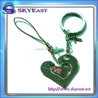 Special Love Metal Key Holders With Mobile Phone Straps