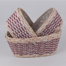 small flower wicker shopping basket
