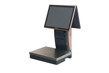 Electric Scale POS with fashion design for retail, dual screen