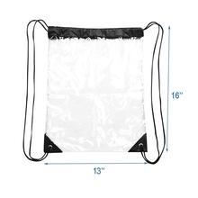 2-Pack Clear Drawstring <strong>Backpack</strong>,Waterproof Drawstring Bag for Women and Men Sport Gym