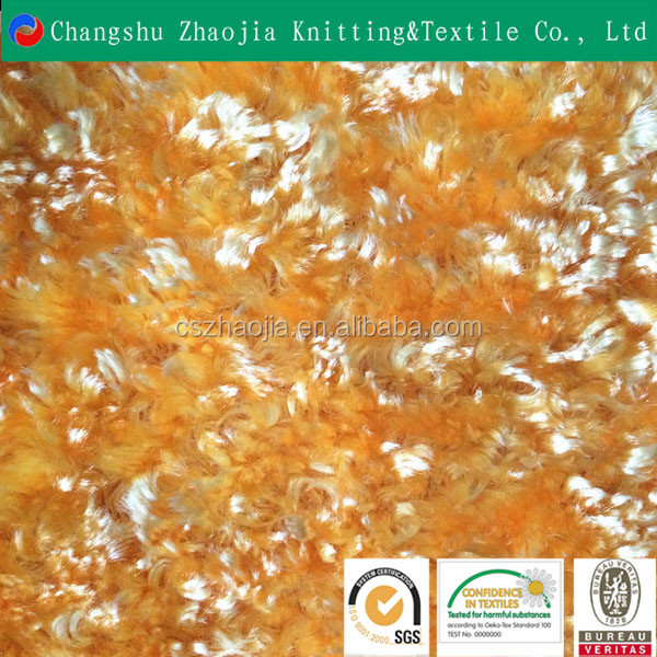 Beautiful shiny pv plush fabric for garment manufacture from China