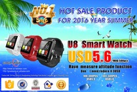 Low price u8 bluetooth mobile smart watch phone