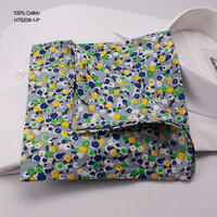 New Print Green Floral Big Causal Handkerchief Cotton Fabric