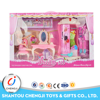 Children pretend make up play toy plastic dollhouse miniature