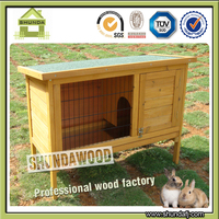 SDR1002 Outdoor Wooden Rabbit Hutch with Large Run