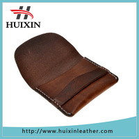 Color vegetable tanned leather wallet coin purse unisex slim credit card holder slim wallet