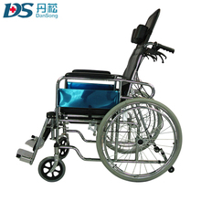 Reclining backrest foldable handicap high chairs with commode