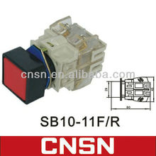 LAY3-11F SB10-11F.R Square head momentary push button switch with white clean contact block (CNSN)