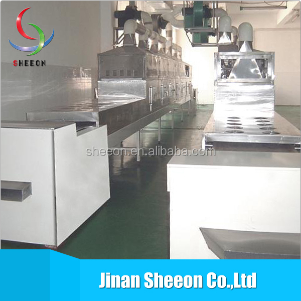 Hot sales continuous microwave beef drying&heating machine/meat dryer
