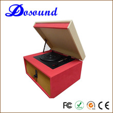 Classical high end wooden vinyl record player turntable