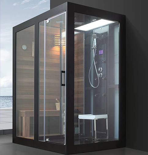 Home use sauna and steam combined room portable for Cost of building a home sauna