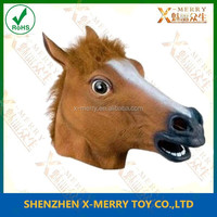 X-MERRY latex fancy party mask rubber brown horse head masquerade dress up