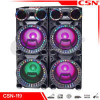 Newly professional multimedia audio stereo player, portable speaker with bluetooth led disco light