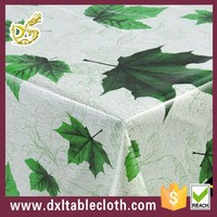 wholesale cheap thick plastic canada style The maple leaf cotton fabric PVC tablecloths made in china