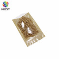 3 Sides Sealed Kraft Paper Bag With Clear Window