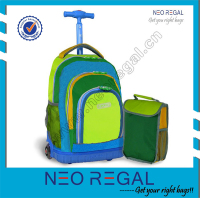 Back To School Bags Rolling Backpack and Lunch Bag