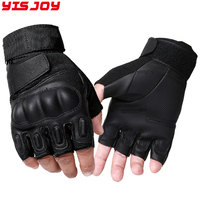 fingerless good quality leather police gloves/patrol gloves military tactical safety working gloves for half finger