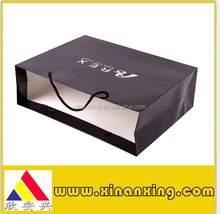 fancy luxury shopping paper bags custom logo with cotton handle
