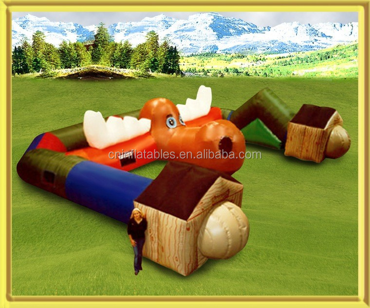 2014 best selling outdoor funny game inflatable tunnel for kids