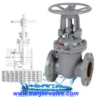 Tianjin lituo gate valve supplier rising gate valve outside stem and yoke