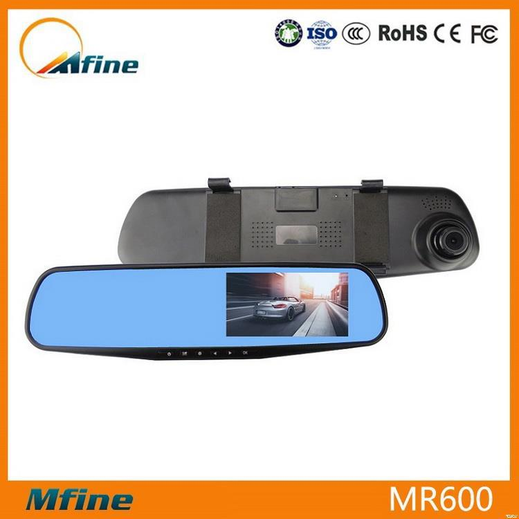Made in china ambarella rearview mirror backup single camera,micro SD card Max 32GB rearview mirror car camera,car camcorder