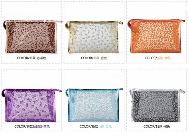 Factory wholesale custom clear cosmetic bag