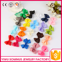 7CM New designs ribbon fabric bow ties colorful clips hair accessories diy accessories