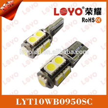 auto canbus error free car bulbs 5050 9smd t10 led light