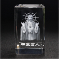 3d laser engraving religious crystal wedding Souvenirs gift