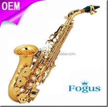 Retail Bb Key Brass Curved Soprano Saxophone