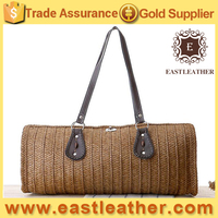 wooden handle 2014 summer straw bag hot selling beach bag S017