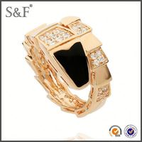 YIWU FACTORY!! Newest Style Crystal 18kgp ring jewelry