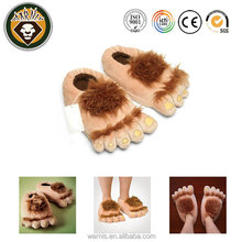 Furry Monster Adventure Slippers Comfortable Novelty Warm Winter Hobbit Feet Slippers for Adults