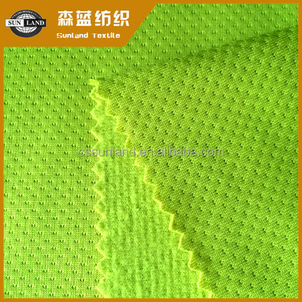 China factory 100 polyester knit brushed mesh fabric for autumn sports garment