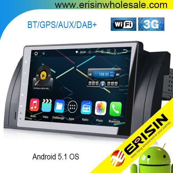 "Erisin ES4905B 9"" Touch Screen Android 5.1 DAB+ Bluetooth Car Radio RDS GPS for E39 E53"
