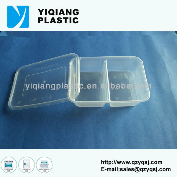 PP disposable hinged food container