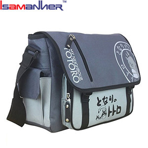 Quanzhou hot selling student buckle anime messenger bags with many pockets, hot new products for 2016