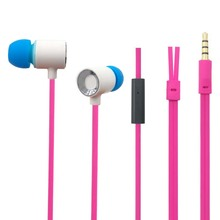2017 hot style In-ear earphone with flat cable