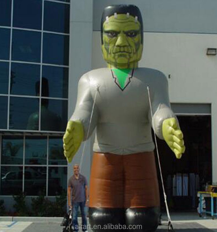 Custom realistic character model giant Inflatable Frankenstein, outdoor Inflatable character model for sale