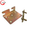 Zinc Plating angle metal shelf bracket for furniture bed