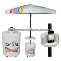 Outdoor Cooler Table with Umbrella
