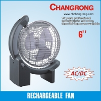 2015 new plastic 6 inch 6V super power high quality portable car fan