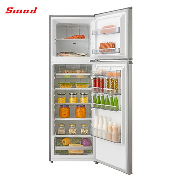207L Home Appliance Top Mount No Frost Stainless Steel Freezer Refrigerator With Ice Maker